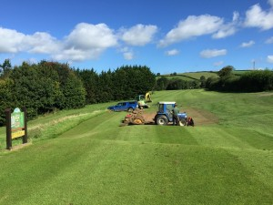 10th tee levelling